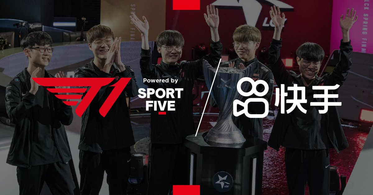 🇨🇳 SPORTFIVE facilitates the partnership between T1 Entertainment & Sports and China's leading short-form video platform Kuaishou.    The partnership will engage and expand T1's fanbase by creating behind-the-scenes content for more than 300 million Kuaishou daily active users. https://t.co/oDmKd49YRY