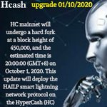 Image for the Tweet beginning: Hcash AI Lightning Protocol mainnet