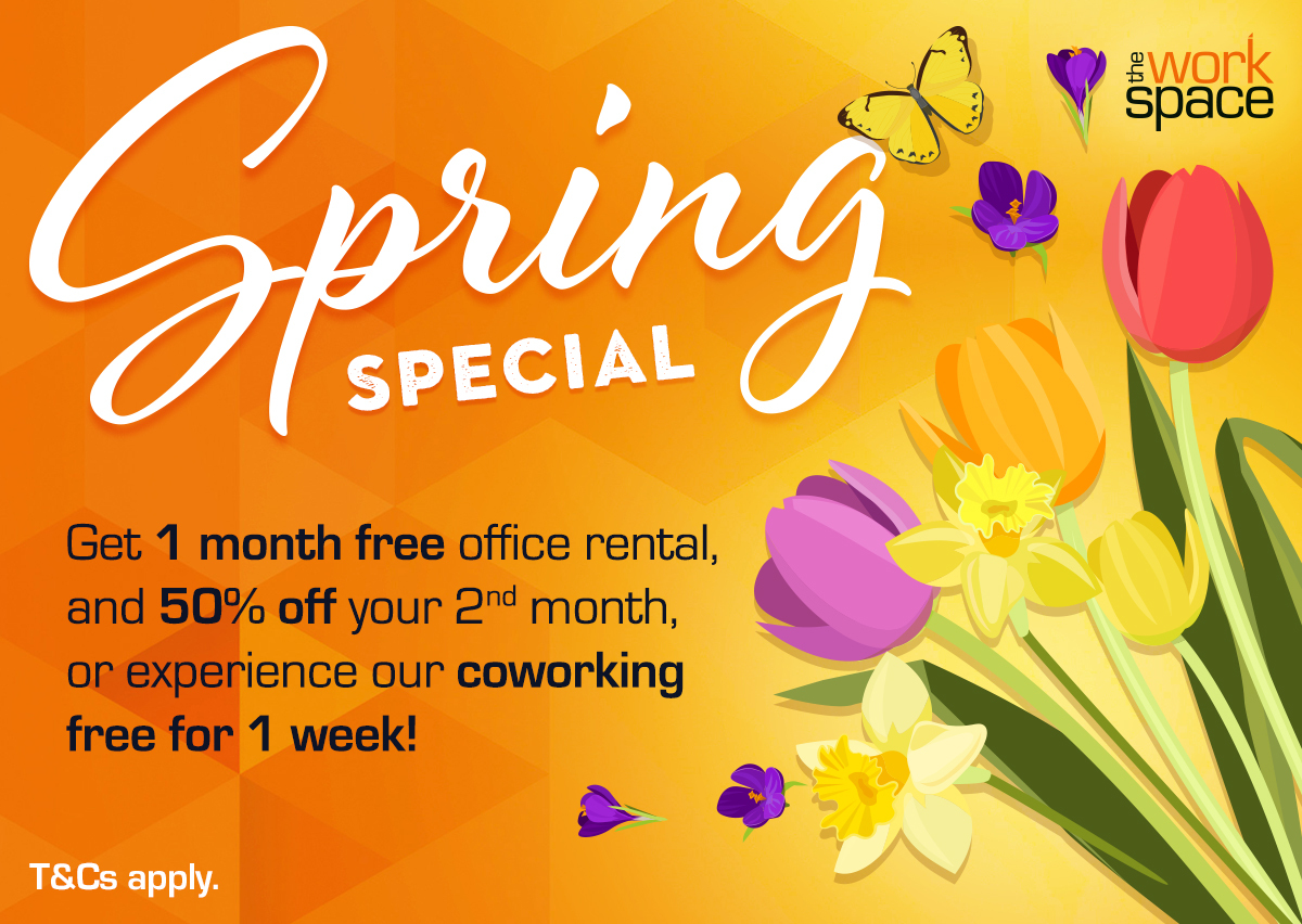 Time for a comfortable, professional space where it's easier to get your work done?  At The Workspace , everything you need is already set up – and they're offering a very attractive SPRING special.  Find a branch near you: https://t.co/DiYRZPcwuj https://t.co/By855mXTIT