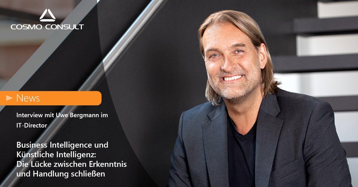 Uwe Bergmann spricht im Interview mit dem IT-Director über die Zukunft der Datenanalyse und warum Business Intelligence in Zukunft nicht mehr ohne Künstliche Intelligenz auskommen wird.  Lesen Sie jetzt das Interview mit dem CEO der COSMO CONSULT >> https://t.co/jj31VC6kQl https://t.co/mVUeRf0SBL