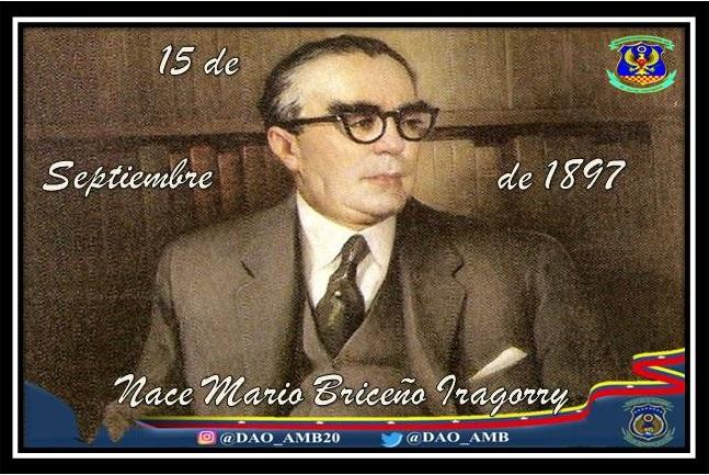 Abogado, historiador, escritor, diplomático y político venezolano, nace el 15 de Septiembre de 1897 en Trujillo. Fue uno de los más importantes ensayistas del siglo XX venezolano. #RumboAlCentenarioAMB #LealesSiempreTraidoresNunca https://t.co/hcKu6rKexK