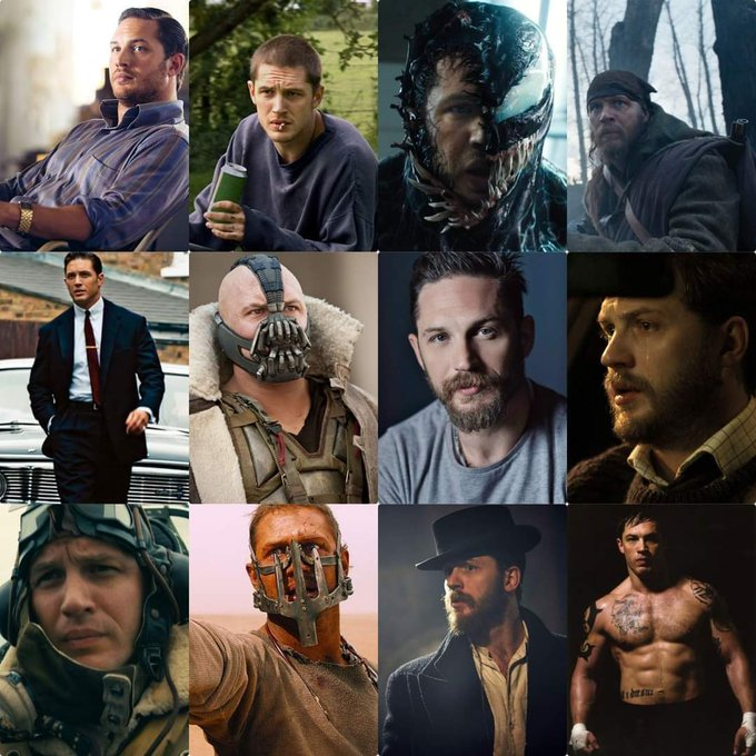 To the man who can act brilliantly just through his eyes and voice , Happy Birthday Tom Hardy