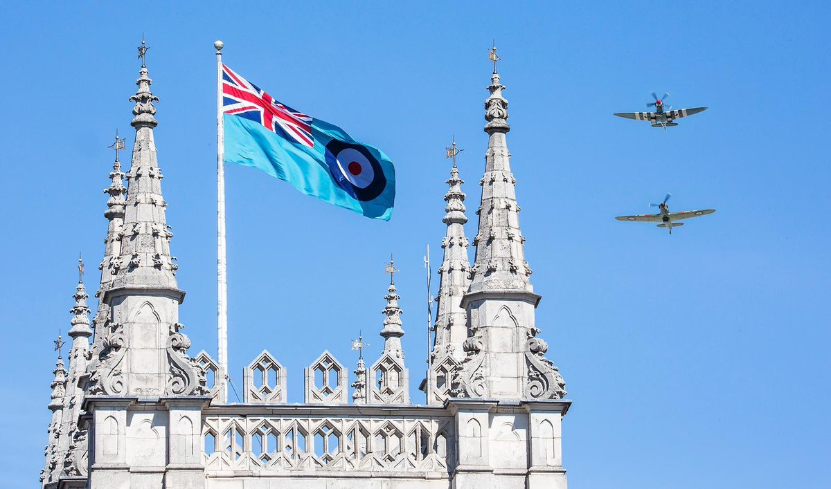 "Today we're commemorating 80 years since the Battle of Britain, a key moment in British history and a turning point of the Second World War. ""So much owed by so many to so few"". @RoyalAirForce @DefenceHQ"