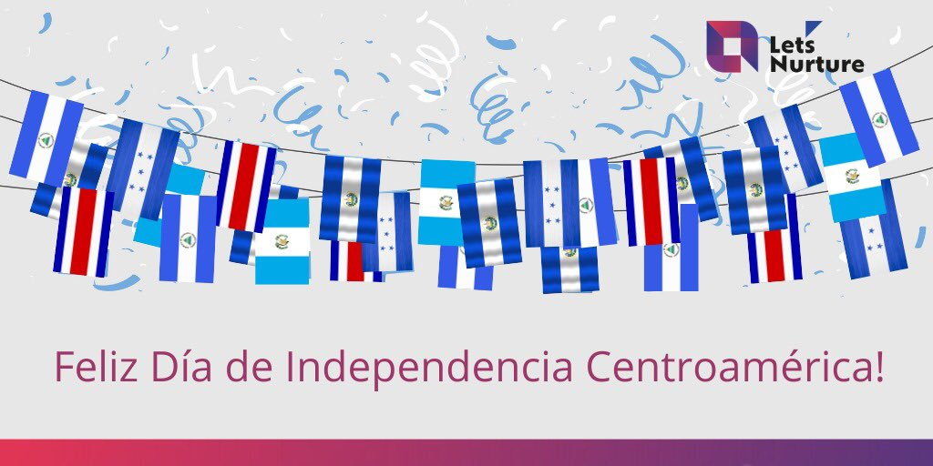Acompañamos a todos los pueblos centroamericanos que celebran con orgullo y patriotismo su Dia de la independencia! . #LetsNurture #independenceday #indepnedenceday2020 #centralamerica #centroameris #diadeindependencia #15septiembre