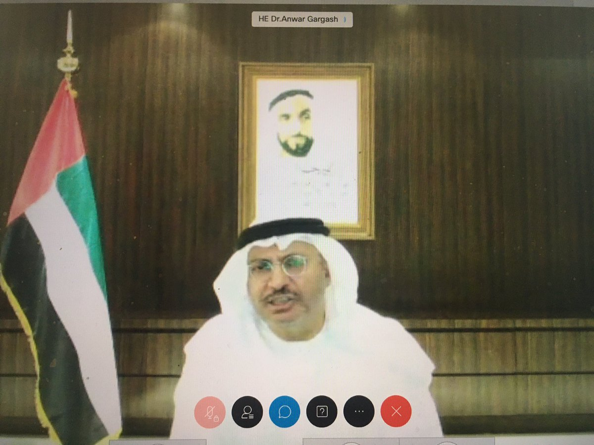 UAE minister @AnwarGargash's on  the #UAEIsrael deal  - The deal doesn't mean that the job is over but it's a start for more stability & economic prosperity  - Our goals haven't changed when it comes to the Palestinian issue. The suspension of annexation is a clear deliverable https://t.co/lnZppORKKA