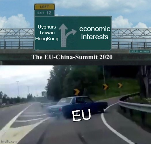 My personal summary of yesterday's #EUChinaSummit 🇪🇺🇨🇳.  As expected, @CharlesMichel , @vonderleyen and chancellor Angela Merkel waived the observance of #HumanRights in favor of economic interests... #SpeakUpForUyghurs https://t.co/5MIlFn8xbE