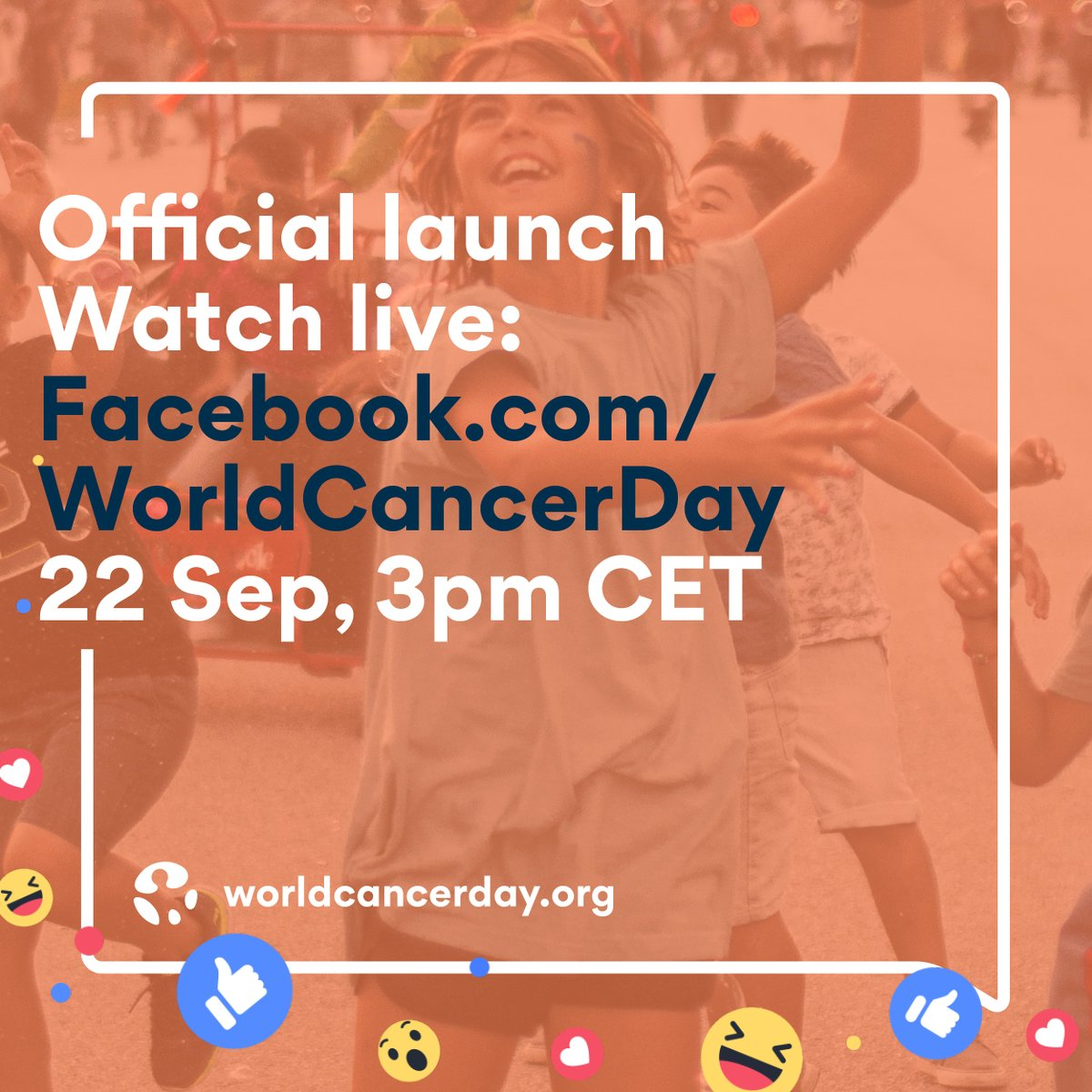 Join us on Facebook Live as we officially launch the final year of the #WorldCancerDay #IAmAndIWill campaign. 22 Sep, 3pm CET.   https://t.co/fjDZYm7ehX https://t.co/WttbaWbryr
