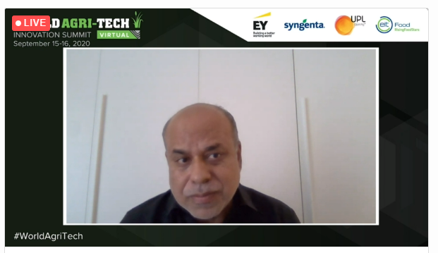The virtual #WorldAgriTech Innovation Summit is now live with Arif Husain, Chief Economist & Director of Research,  @WFP highlighting that we need to get to zero hunger by 2030, reduce generational losses, improve climate change and build agriculture platforms around the world. https://t.co/RrxYwU0F3u