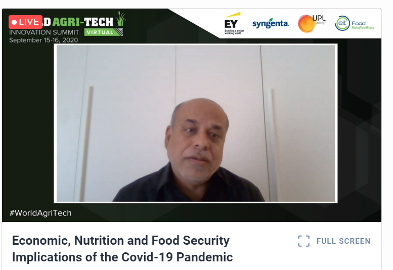 You have to empower women, nourish children, make technology relevant to the ground realities, invest in rural infrastructure and create relevant safety nests - in order to end #hunger - #FoodForThought by @WFPChiefEcon.   #WorldAgritech #KeynoteSpeaker https://t.co/A3tnk5IPfw