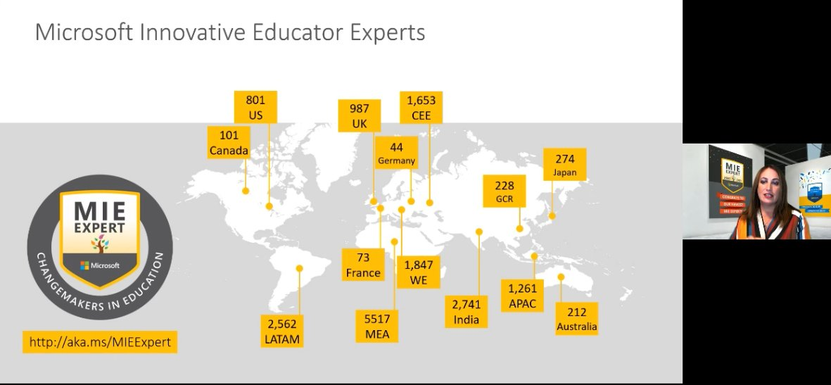 Hey! I'm one of them! (and super proud of that!) #MIEExpert #MicrosoftEdu
