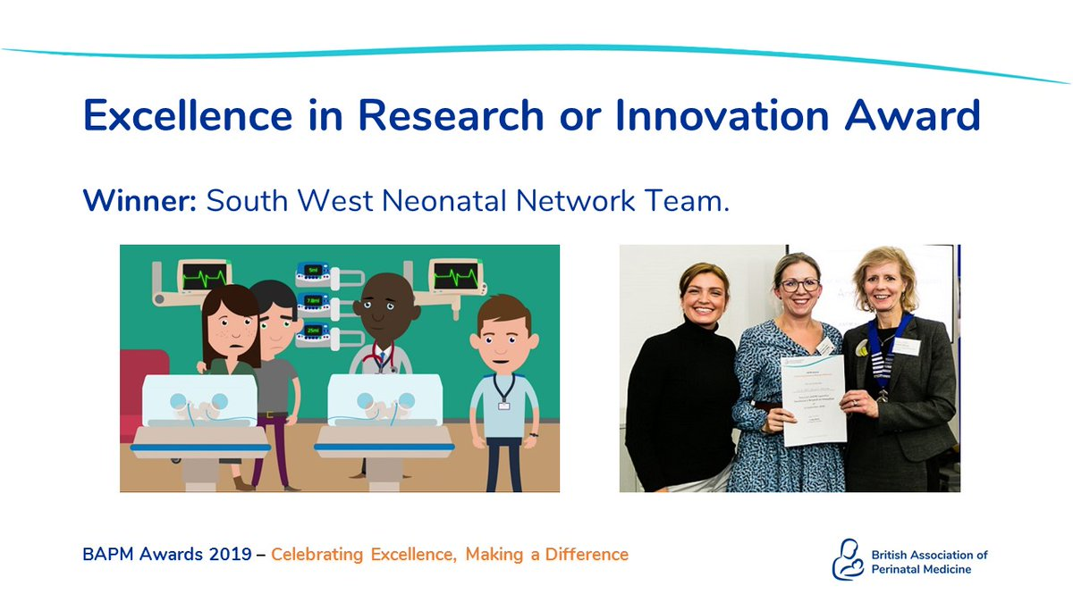 The BAPM awards deadline is only a few weeks away now. Have you submitted your entry yet?  Last year the SW Network won the award for research and innovation with their Neonatal animation.  Will it be you that wins in 2020?  https://t.co/7TqYheSFbr https://t.co/H9N4qeqSvK