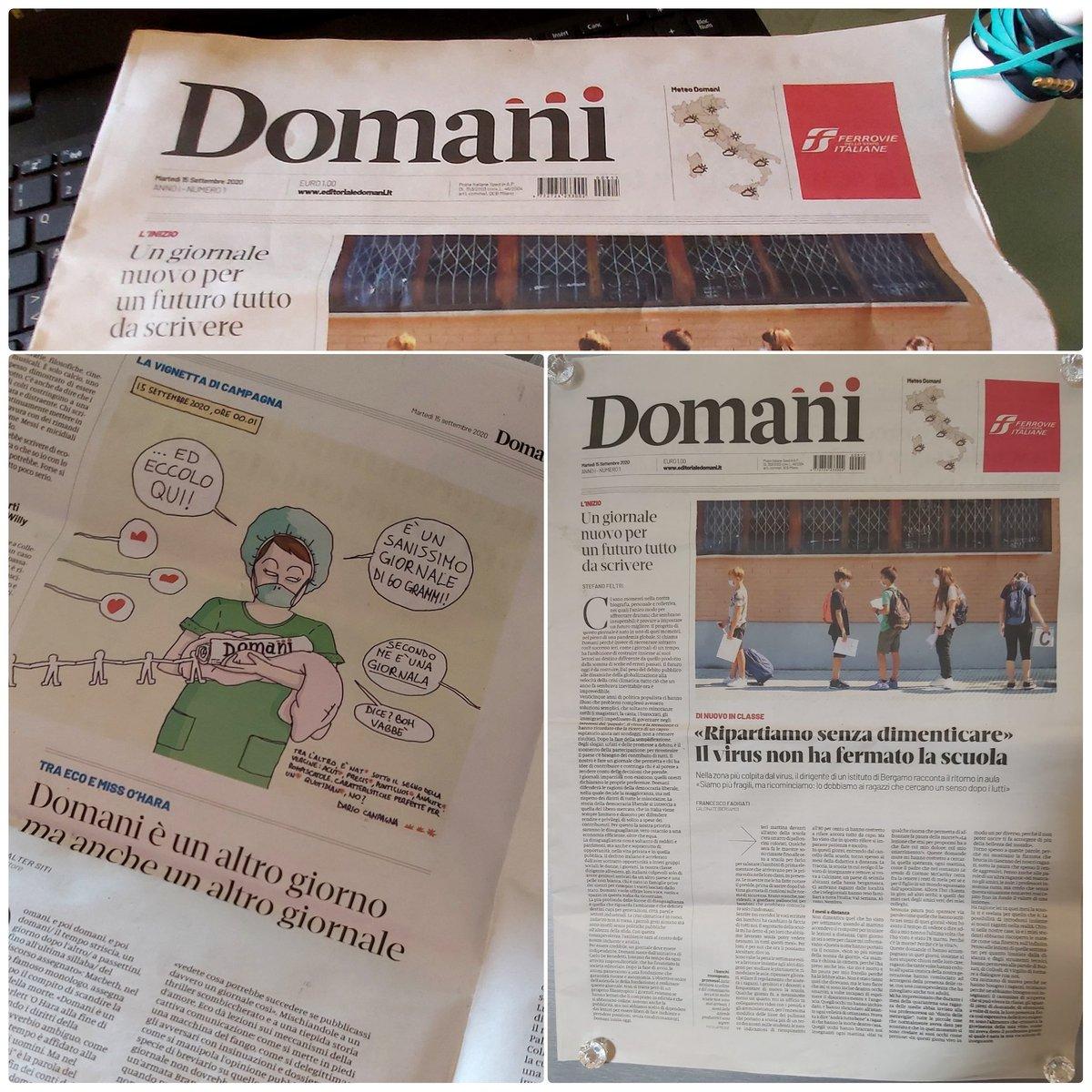 Debutta online e su carta #Domani, il quotidiano
