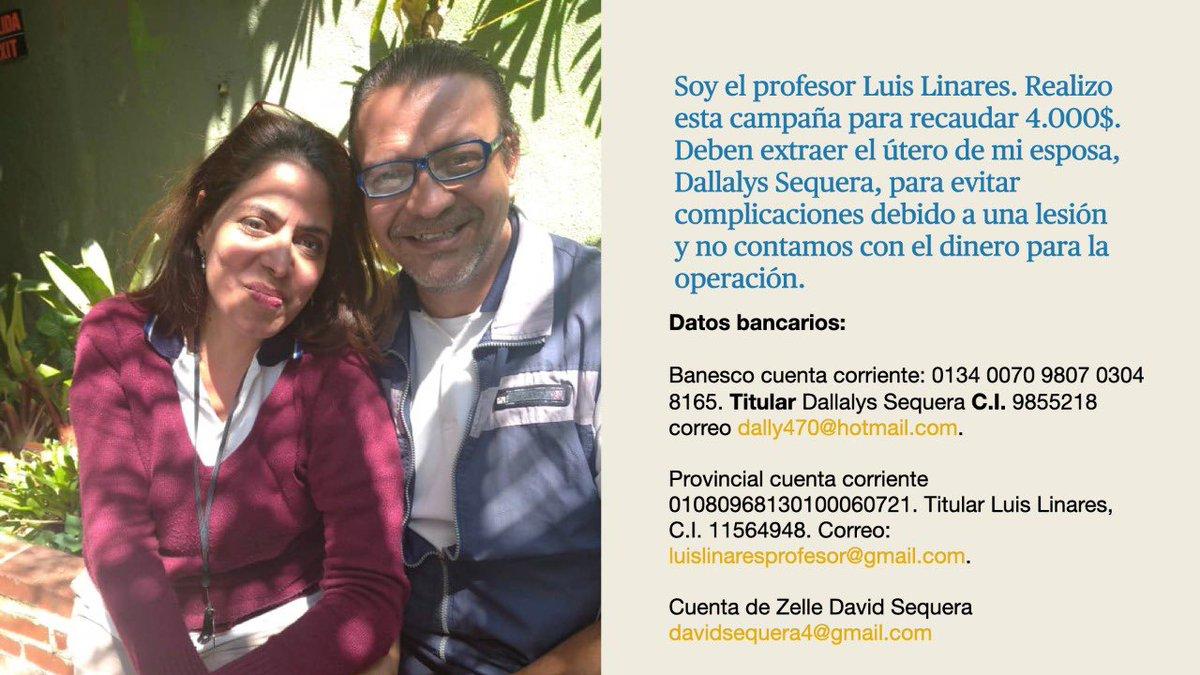 #ServicioPúblico Mi profesor de bachillerato pide ayuda, porque su esposa necesita una operación. Cualquier ayuda es bien recibida. https://t.co/REq9KUsNxz