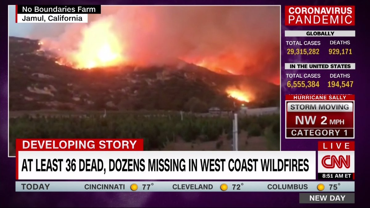 """""""It came down with 70-foot flames and it just engulfed our farm. And we tried to get all of our personal belongings and I told the kids, It's time. Our life's in danger now."""" A California wildfire destroyed Brooke and Eddie Campos' business and family home."""