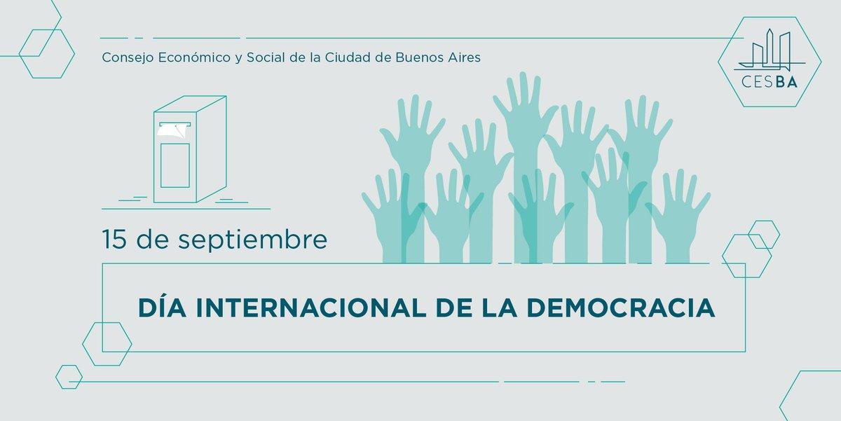 15 de septiembre - Día Internacional de la Democracia https://t.co/wn4odHK3y1