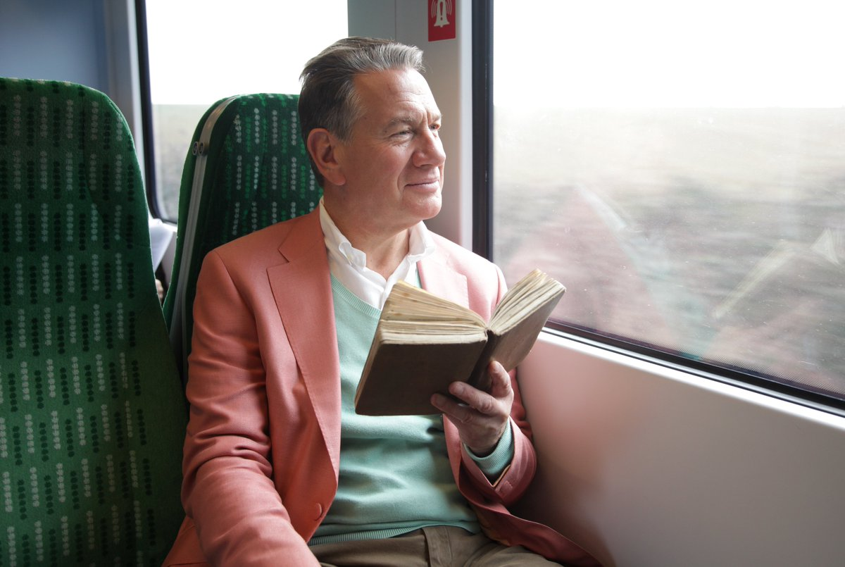 Michael Portillo on a train, reading a book about trains*  *It's Bradshaw's Handbook, isn't it: https://t.co/okNcvznQ9V