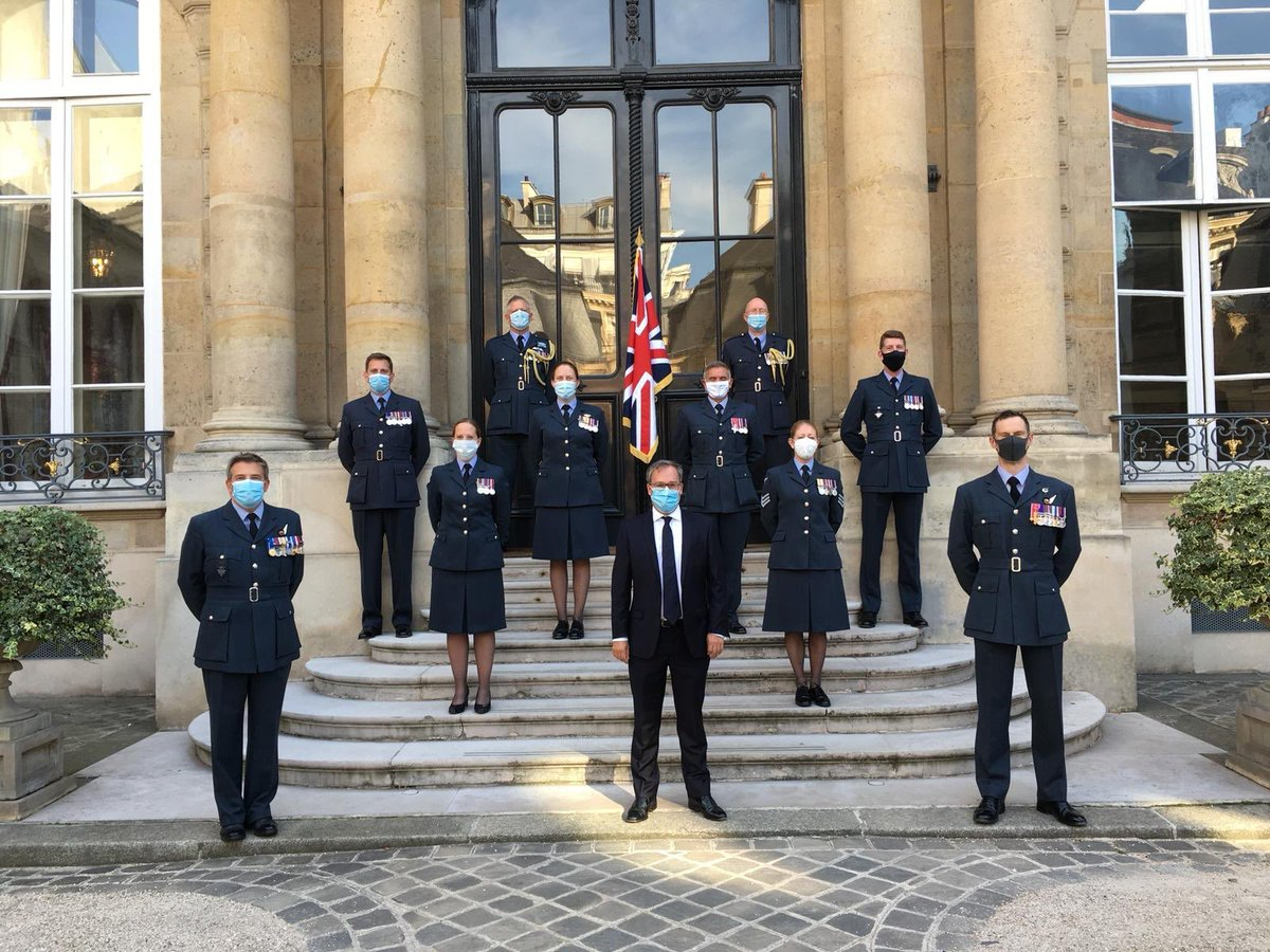 80 years after the #BattleOfBritain, incredibly proud to stand with colleagues from the @RoyalAirForce here in 🇫🇷 to remember their forebears and those from Allied nations who saved 🇬🇧 and European freedom   #BattleOfBritain80 https://t.co/MhmbllqLEM