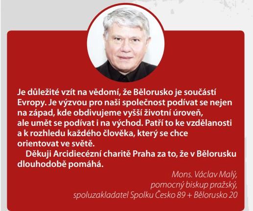 Arcidiecézní charita Praha vyhlašuje sbírku na pomoc v Bělorusku. Navazuje tak na dlouhodobou spolupráci s místními charitními partnery ve městech Vitebsk, Minsk, Mogilev, Grodno, Lyntupy a Braslav.  Více informací v pravidelném bulletinu pražské charity: https://t.co/RoRiy16zKs https://t.co/pDYG2rAA6R