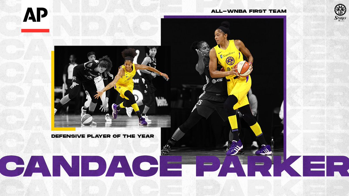 .@Candace_Parker named @AP_Sports Defensive Player of the Year  https://t.co/F82wMHIDCX  #GoSparks | #LeadTheCharge https://t.co/FRw3OG6pWd