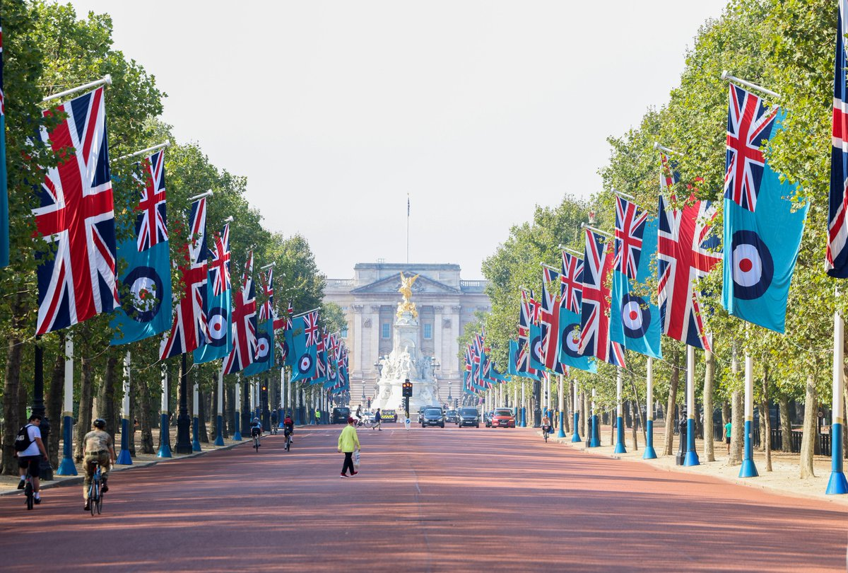 Never in the field of human conflict was so much owed by so many to so few. – Sir Winston Churchill, 1940. Today RAF flags are flying on the Mall in central London to mark the 80th anniversary of the Battle of Britain. #BattleOfBritain80