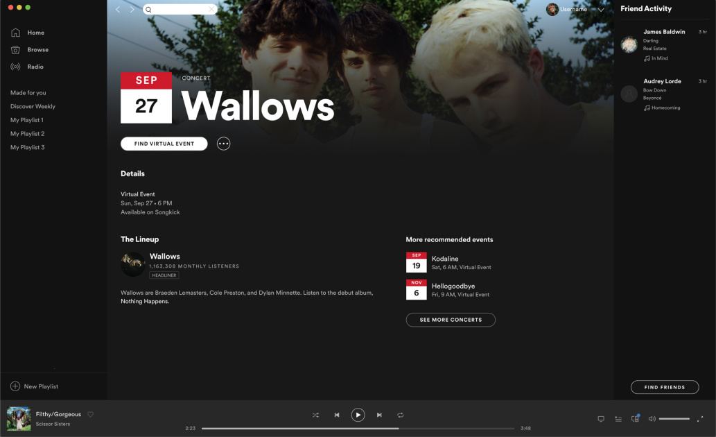 Spotify will now list virtual events on artist pages