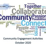Image for the Tweet beginning: October is Community Engagement Month