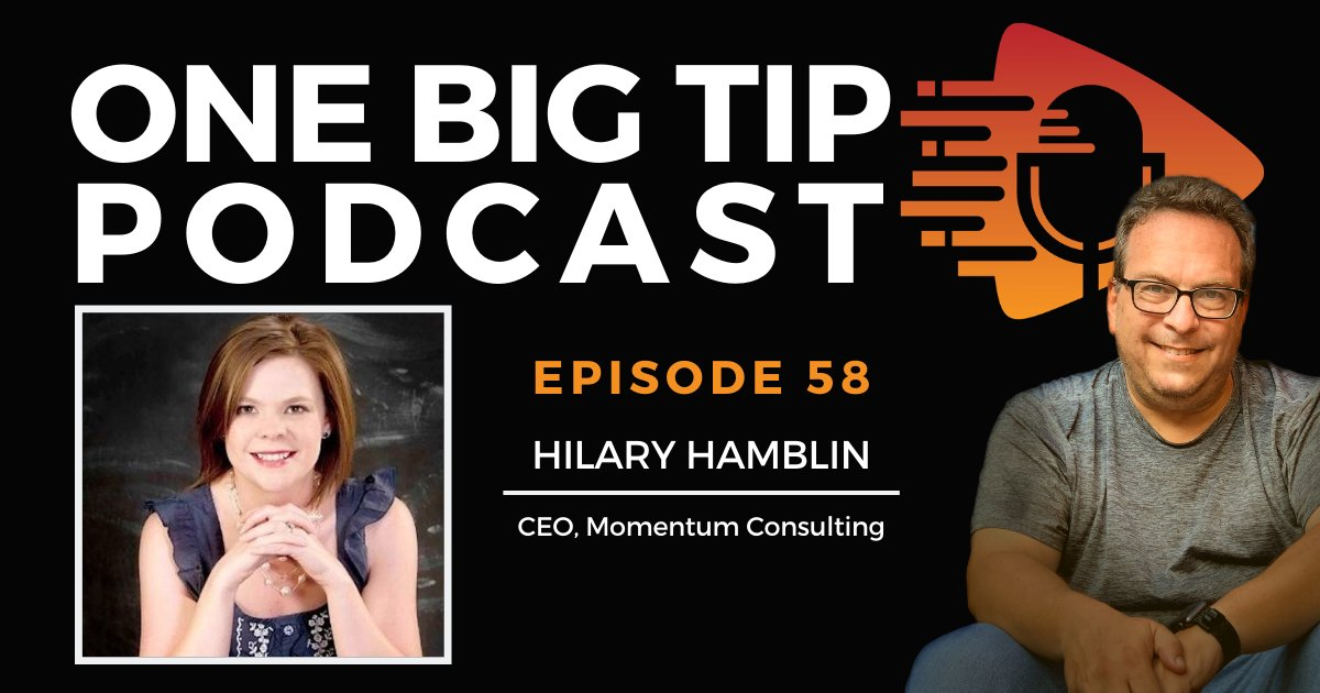 Digital marketing agency owner Hilary Hamblin shares her One Big Tip for using #socialmedia to your advantage when promoting your products or services. Listen to #OneBigTip podcast E58 to learn how to create your social media strategy https://t.co/UUJ1g2XUkF https://t.co/NBfK6En98J