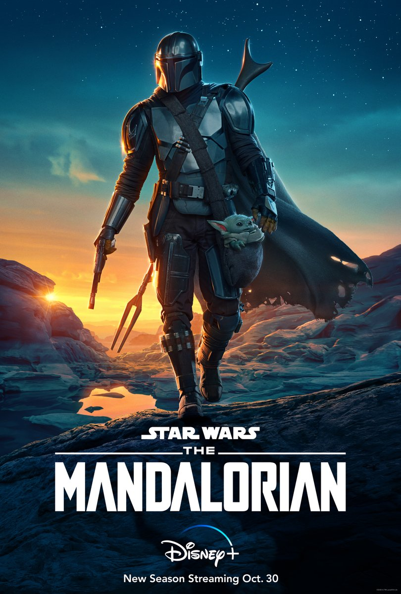 The new season of #TheMandalorian starts streaming Oct. 30 on #DisneyPlus.