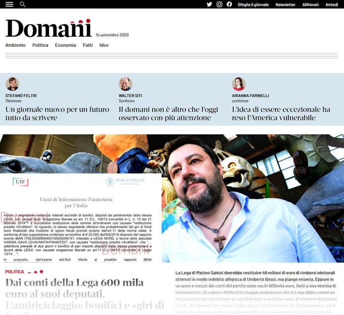 Editoria: in edicola da oggi 'Domani', diretto da Stefano Feltri https://t.co/jYkaSrNlbm https://t.co/MtmQxAQLSR