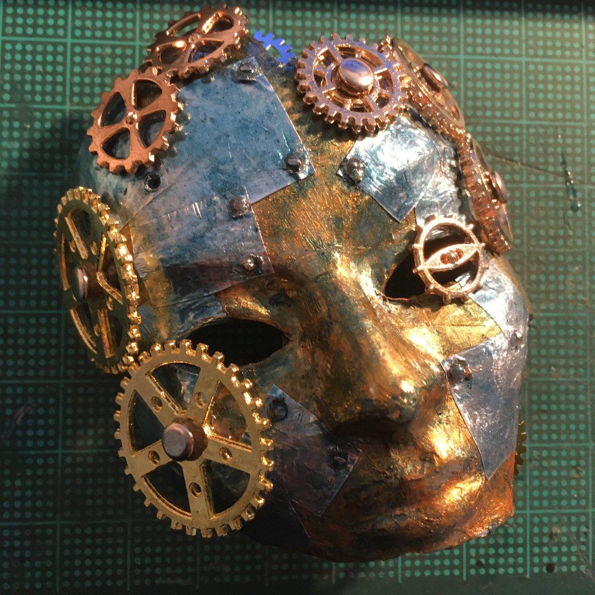 Work in progress... #handmade #diy #craft #mask #doll #steampunk