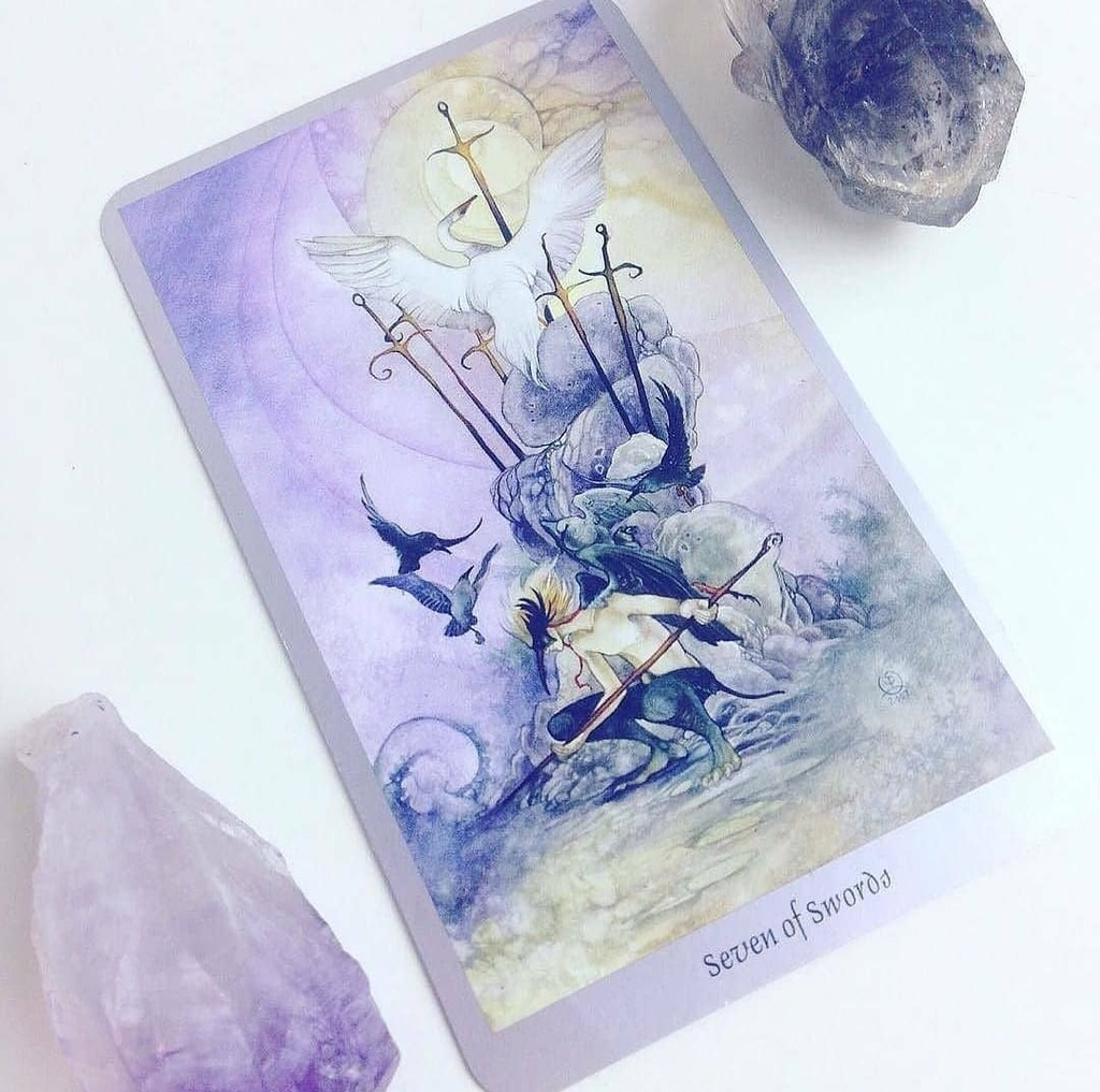 Daily #Tarot #Reading for September 15: Seven of Swords When you're taking what you can carry and leaving the #battle behind you, you're embodying the #archetype of the Seven of Swords. The figure in this card is stealing five swords, but leaving two beh… https://t.co/Gj3mtvQ9z5 https://t.co/CHFSTpsHWD