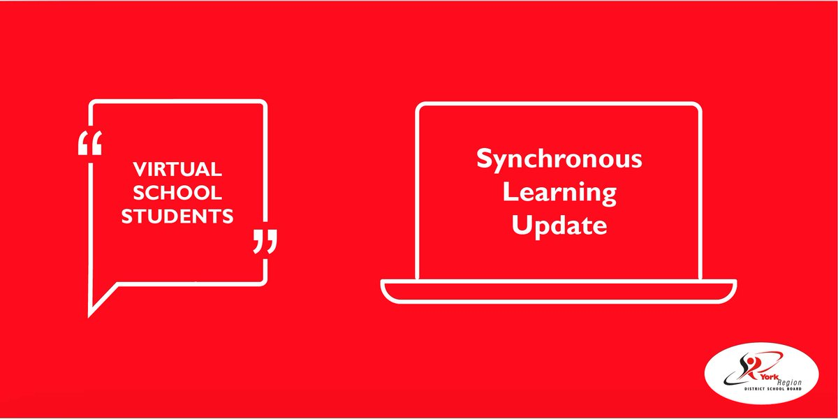 1/2 - Last night elementary virtual school families received a letter with an update on synchronous learning.  Due to the need to transfer teachers and equip them with necessary technology, some classes are not yet ready for live (synchronous) learning. https://t.co/xLUVbKNawO