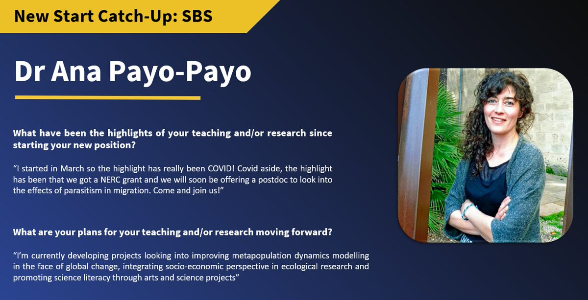Ana Payo-Payo has been with the School of Biological Sciences since 2018, and now in her new position as Research Fellow she's ready to begin several exciting new projects!  @anapayopayo #natureonourdoorstep https://t.co/ii6r61IQsd