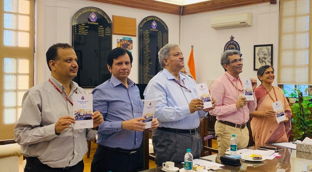 Chairman CBIC M Ajit Kumar and Members of the Board released a bilingual e-booklet through VC on E-way bill containing 70 FAQs in English and Telugu outlining the concept and processes involved in generation of E-way bill. It was prepared by @cgstcushyd zone.