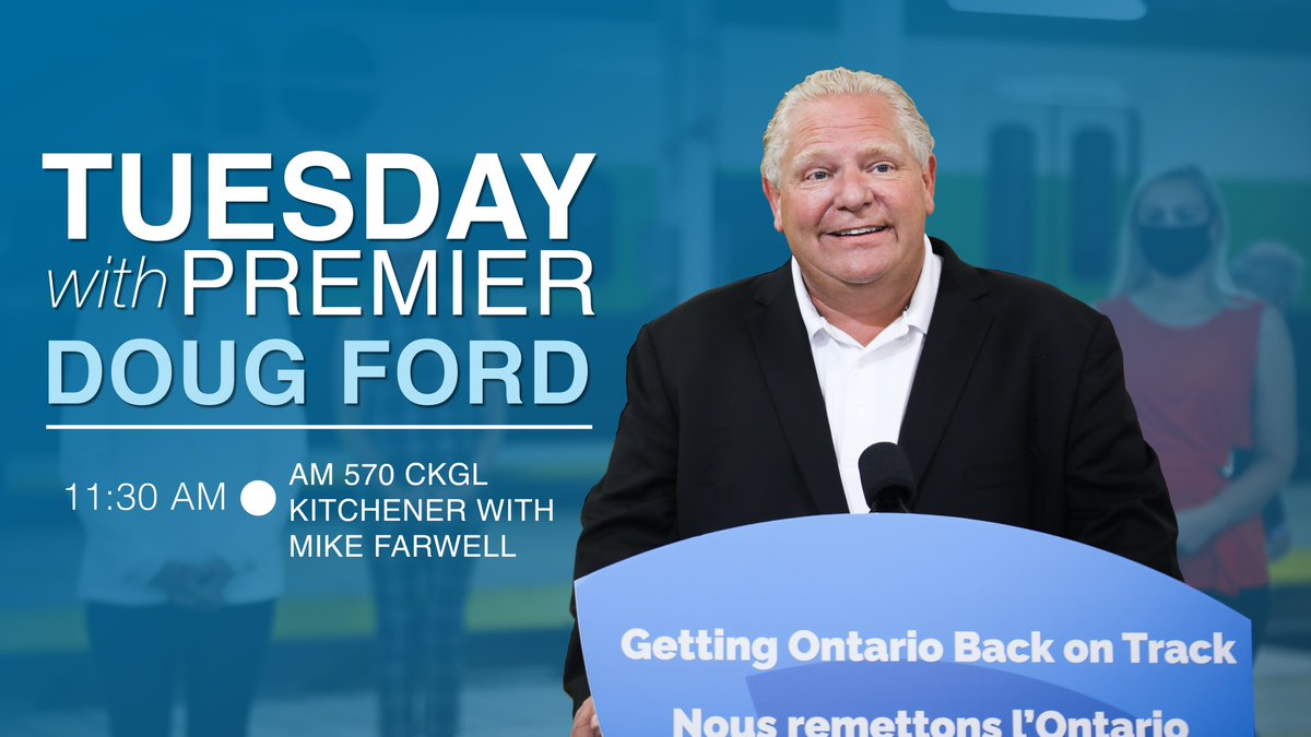 This morning I will be joining @570NEWS at 11:30am to talk to @farwell_WR about back to school plans and my trip to Guelph today.