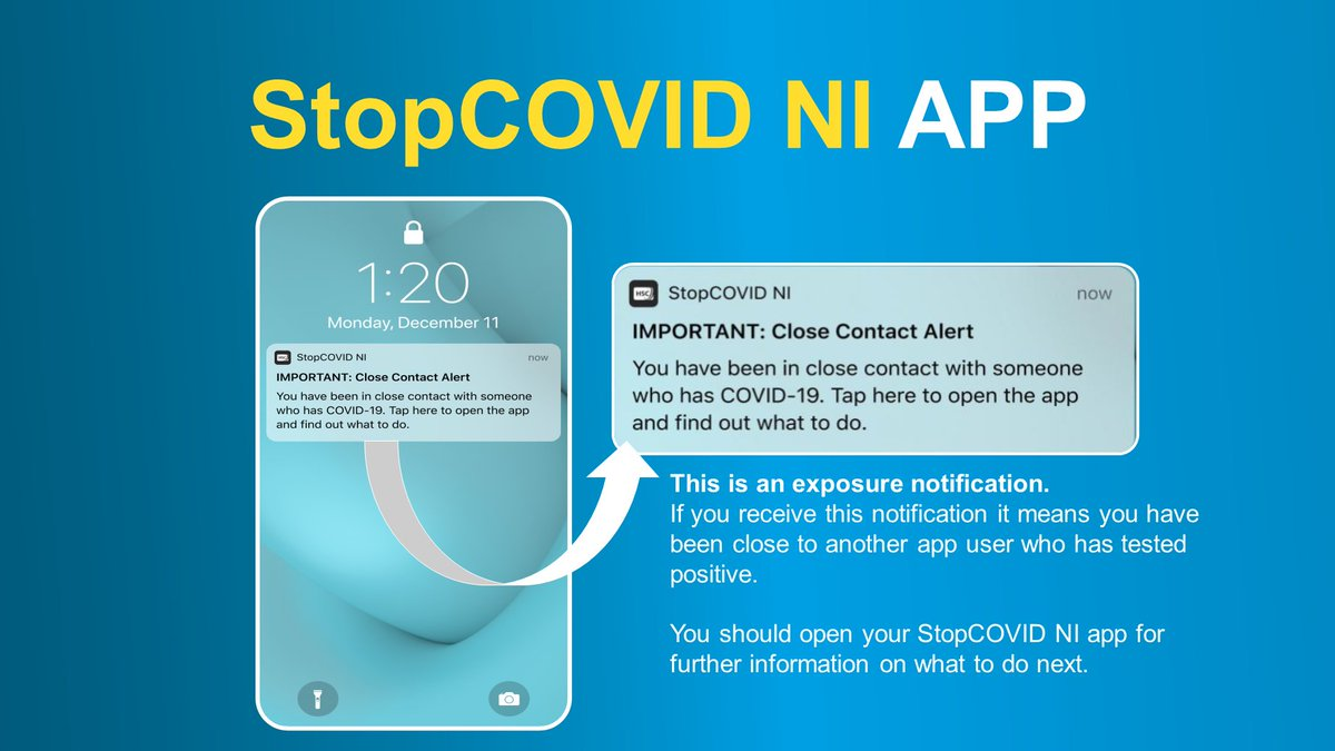 If you receive a Close Contact Alert as shown below you must self-isolate for 14 days from the day you receive the notification. 🗓️ ➡️For more info visit: nidirect.gov.uk/articles/coron…
