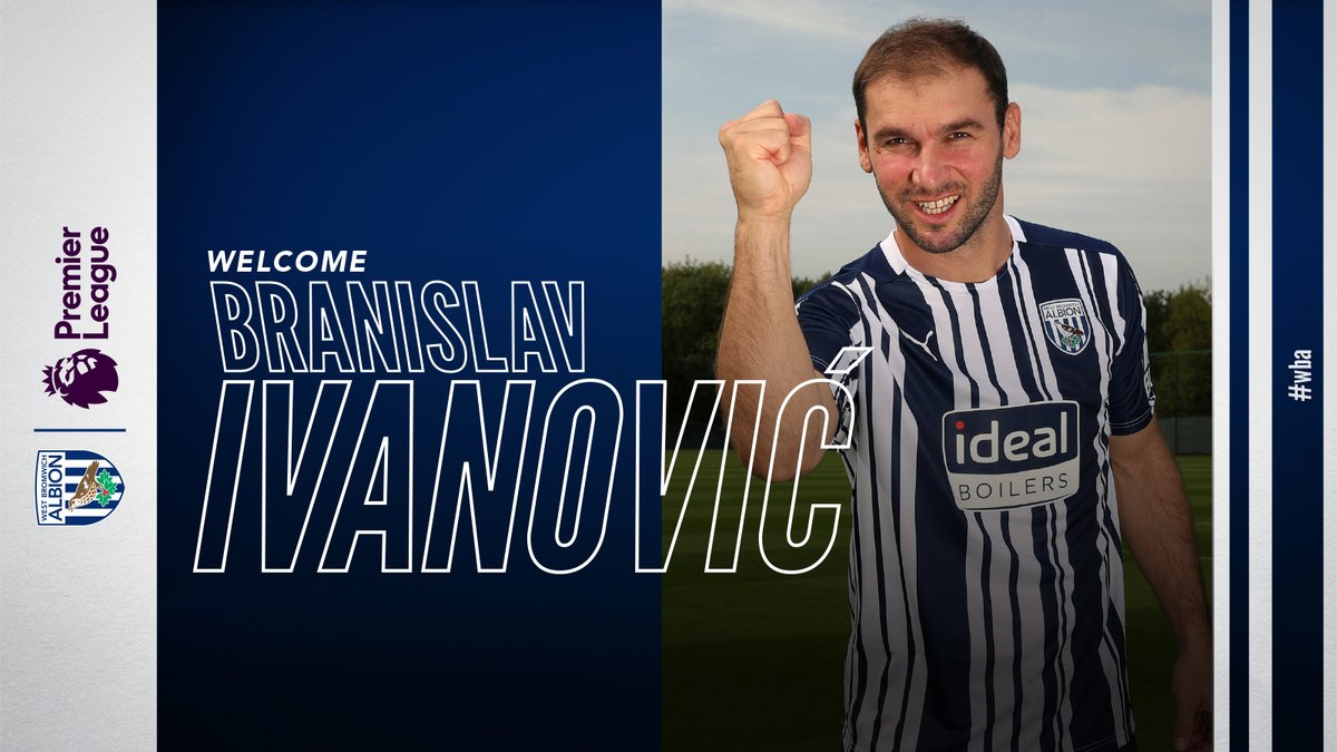 Welcome to West Bromwich Albion, Branislav Ivanović ✍️🇷🇸 https://t.co/kXDjQpbmdm