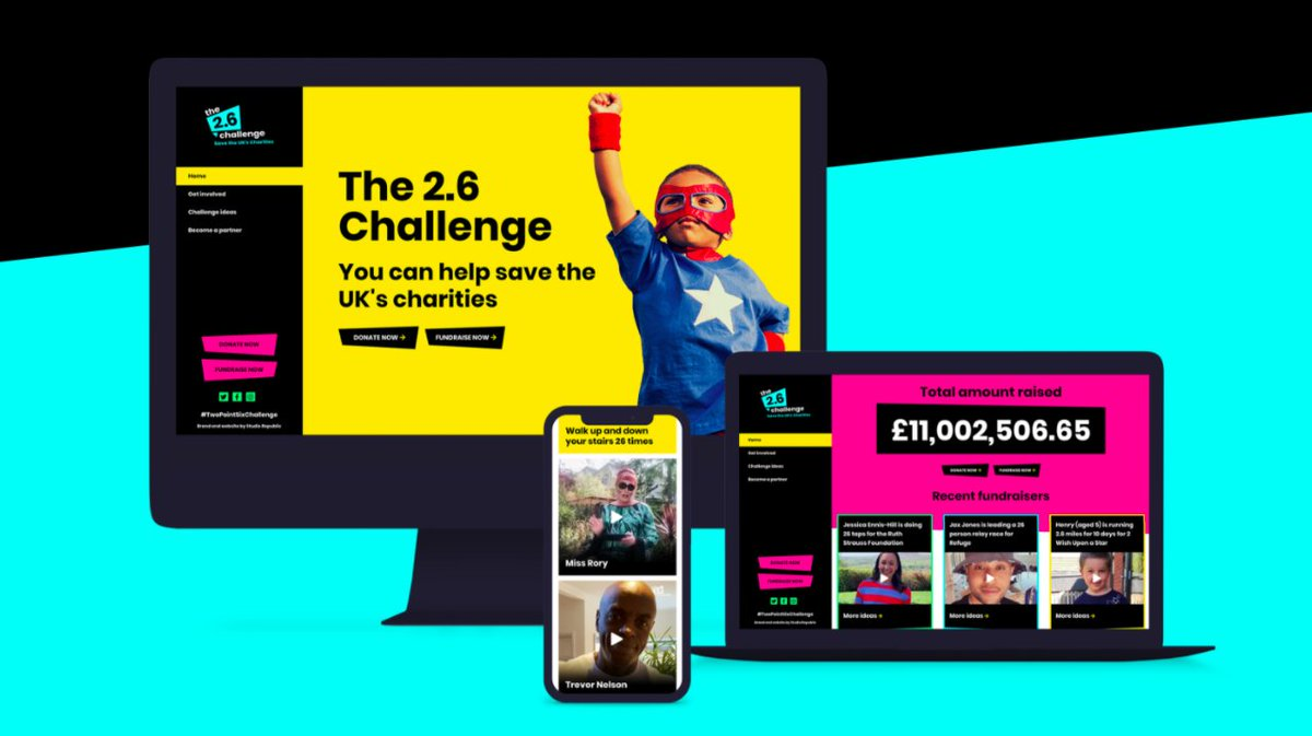 We're extremely proud to have been shortlisted for THREE @TSEawards for our work on #TwoPointSixChallenge. Read all about it: https://t.co/YvCrmjbcqh #ThirdSectorAwards https://t.co/cZoX55DsyH