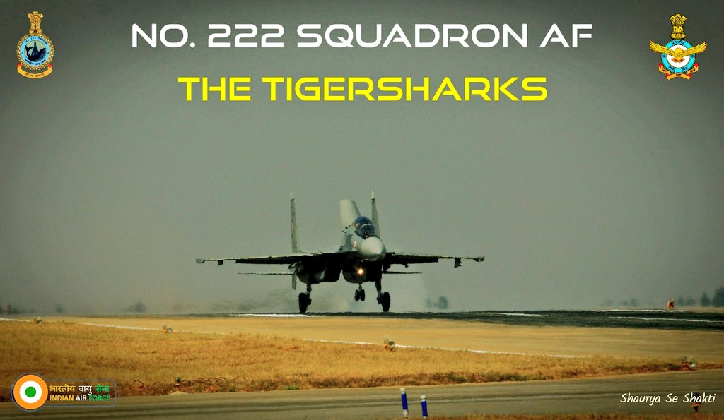 #YearsBackOnThisDay: 15 Sep 1969, No 222 Sqn was formed at AFS Ambala with Su-7 aircraft. Sqn participated in many combat Ops & Photo recce missions & has numerous commendations & awards on its roll of honour. Sqn was number plated in 2011 & resurrected in Jan 2020 with #Su30MKI.