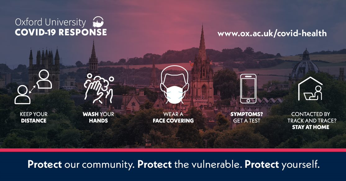 We need everyone to help us keep Oxford safe. Make sure you're aware of what you need to do to protect our community, protect the vulnerable and protect yourself: https://t.co/JN2Pi1IUUZ https://t.co/kaX8qG9che