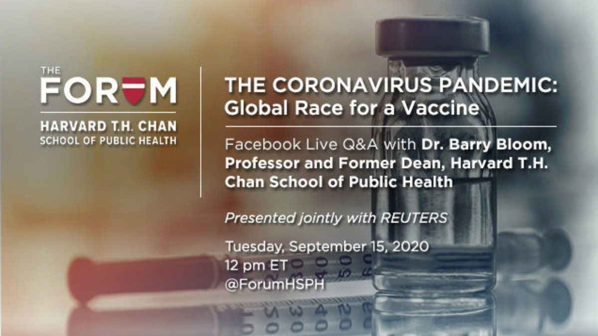 Coming up: Live Q&A on the global race for a vaccine. Watch 👉 https://t.co/TqVgfXJGv5 https://t.co/Tt2d48cbPY
