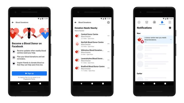 Facebook teams up with NHS to launch blood donation feature in the UK