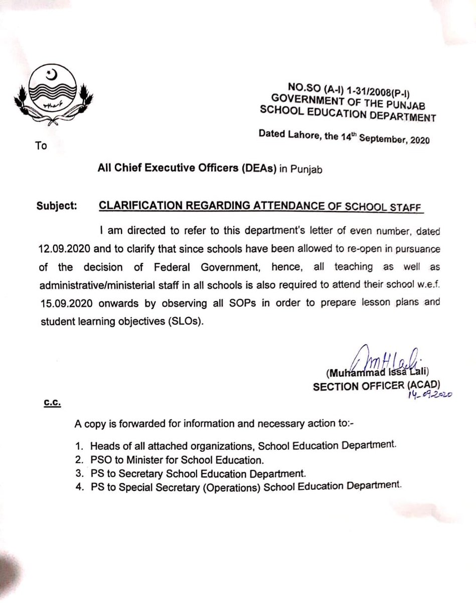 All Honorable Teachers and Staff should read the following Notification issued by School Education Department Punjab. https://t.co/9hHWiPlCIv