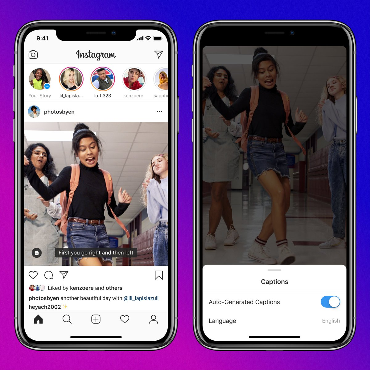 Automatic captions, rolling out on IGTV today. 🙋♀️  Go to your settings and turn on video captions or find the option in the video drop-down menu.  Captions will be available in 16 languages to start. Stay tuned for updates as we expand to more surfaces and countries. https://t.co/g3zBUBjCDr
