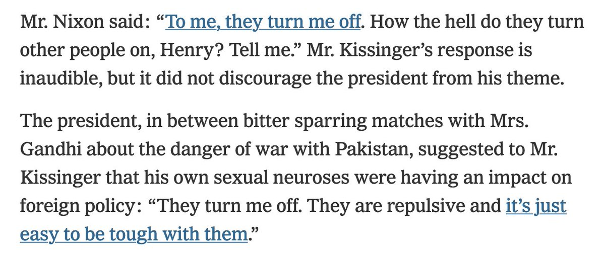 My new evidence of the depths of Nixon & Kissinger's bigotry toward Indians nytimes.com/2020/09/03/opi…
