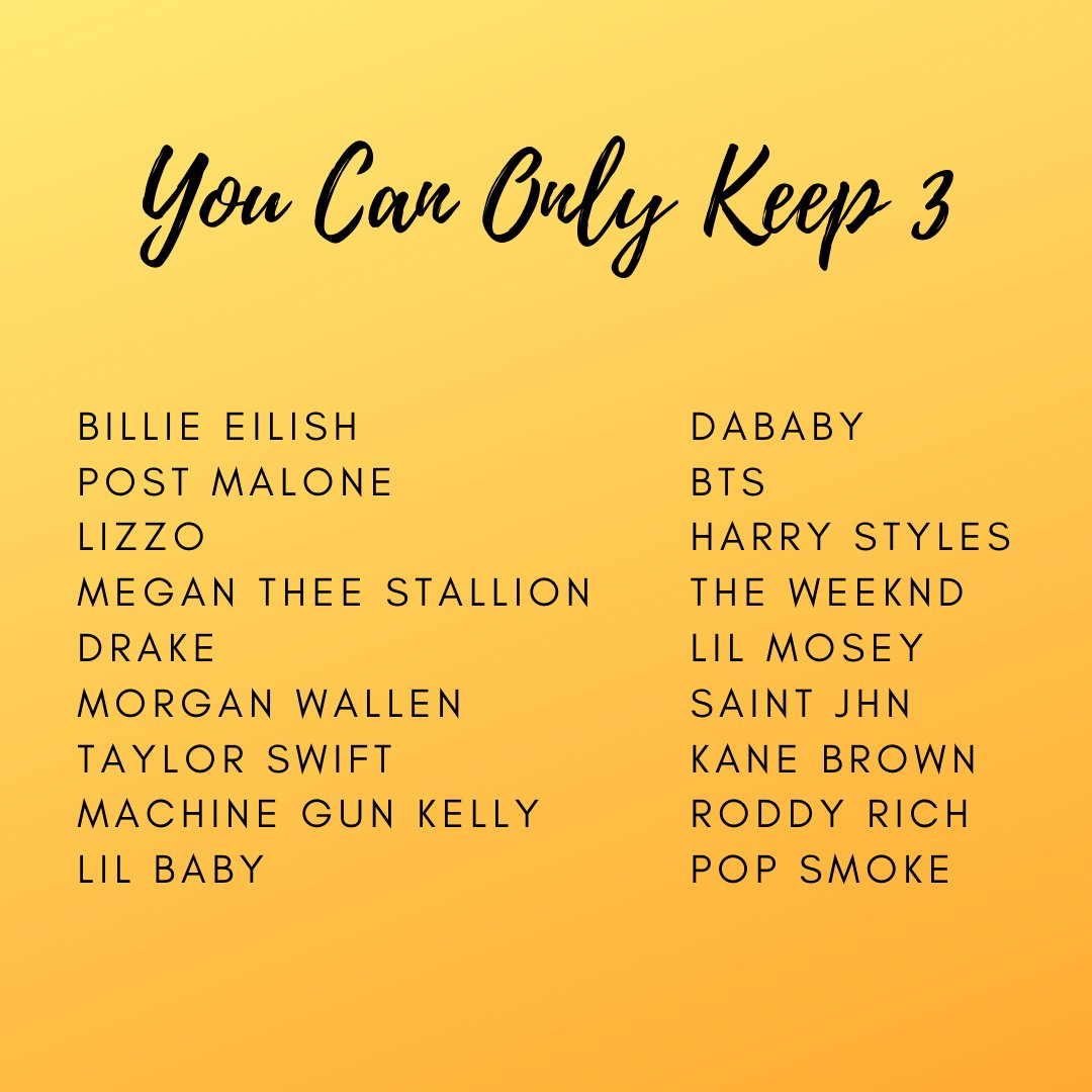 What would you choose if you could only keep 3? 🧐   #YouCanOnlyKeep3 https://t.co/HlGBYFE4W7