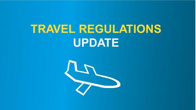 travel reg update