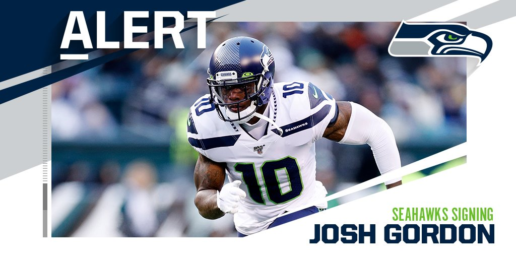 Seahawks signing WR Josh Gordon to 1-year deal. (via @RapSheet) https://t.co/AU3bVj9t6f