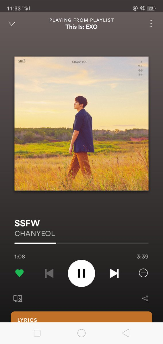Listening to one of Chanyeol's masterpiece #SSFW . I super love this song and his vocals here 😍♥️💯👏 @weareoneEXO https://t.co/60NQkdwcpI