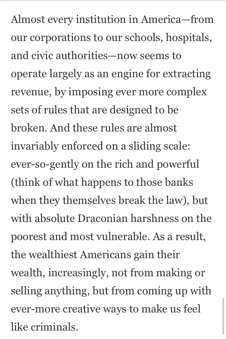 """David Graeber's concise, elegant Gawker essay """"Ferguson and the Criminalization of American Life"""" is a text I teach, reread, cite and just think about often. A gem example of the work of the public intellectual.  https://t.co/uCOXyHuLqh https://t.co/jEkt6udlR5"""